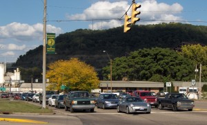Intersection of Route 7 and University Boulevard.