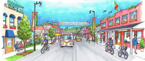 Illustration of downtown Weirton, WV.