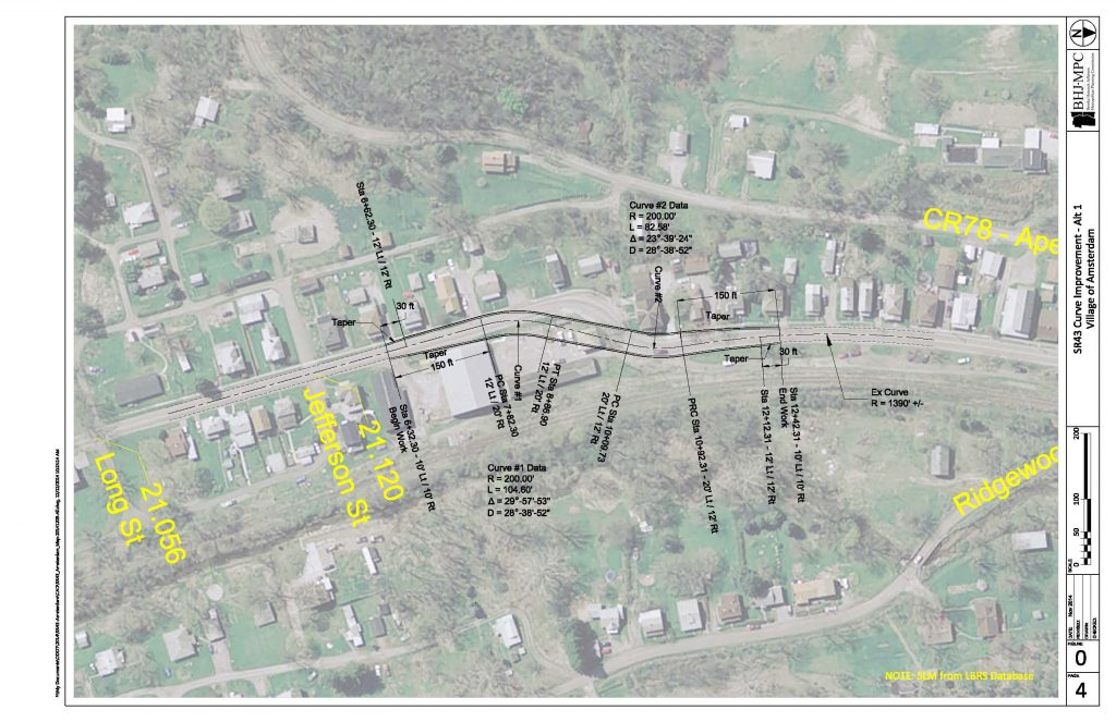 Aerial picture of the preliminary plan.