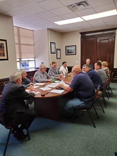 Members of the Executive Committee meeting.