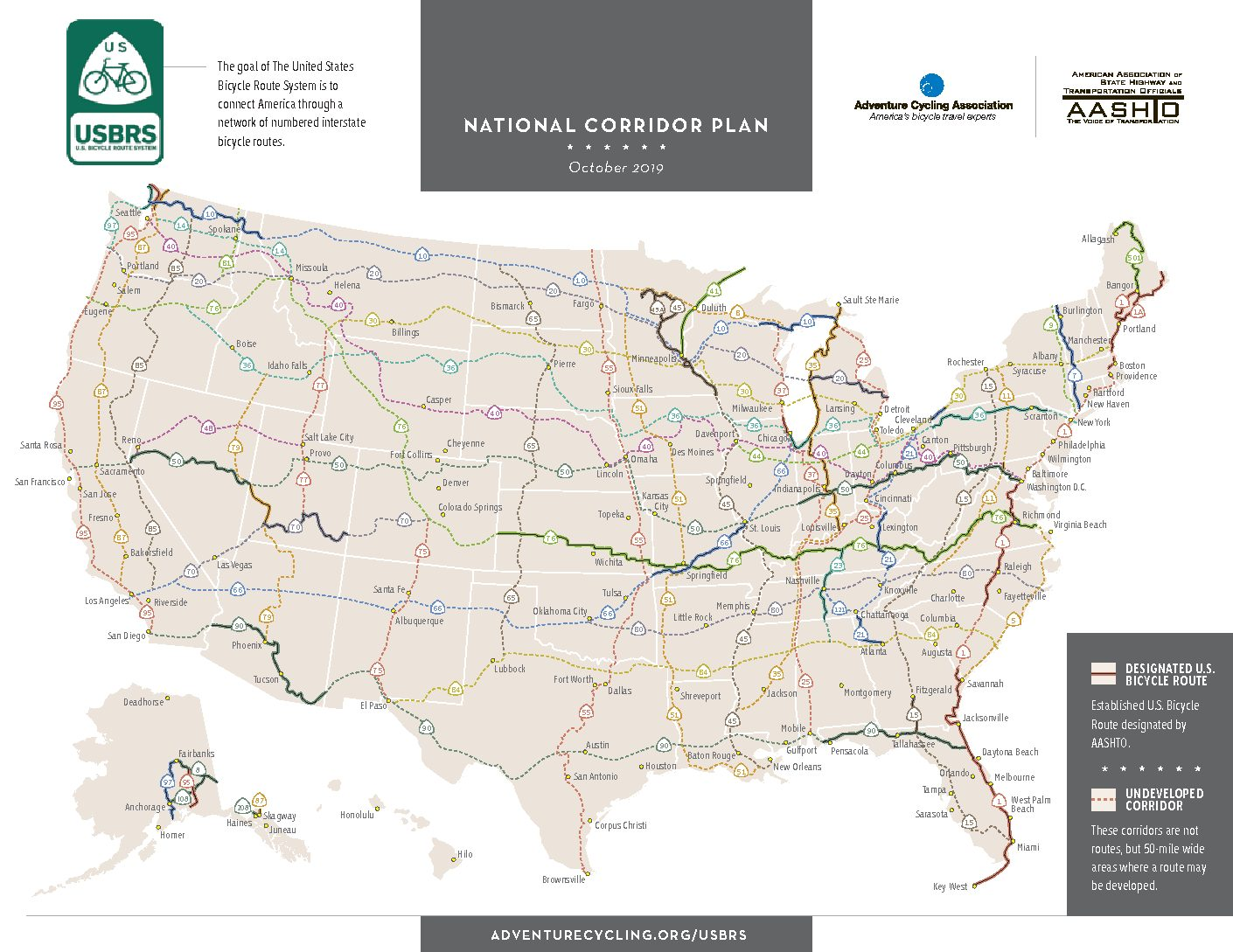 Us Bicycle Route 50 Map AASHTO Approves US Bike Route 50 through the Northern Panhandle